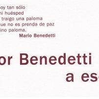 """""""Señor Benedetti... a escena"""" (Setembre 2001)"""